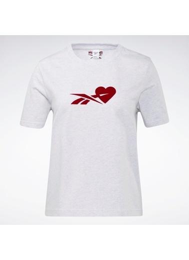 Reebok Cl Sevgılıler Günü T-Shırt Beyaz